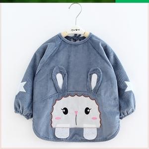 1一2岁男宝宝防水罩衣小童男童秋冬套衫舒适围裙罩衣儿童装外罩衫