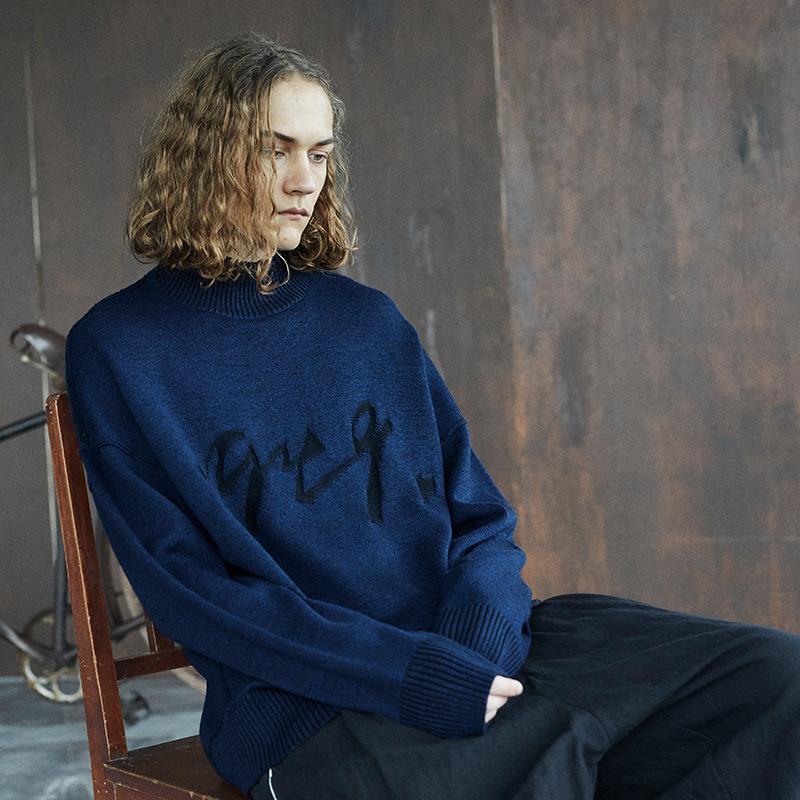 【野无】日着原创设计男装2020春秋季新款 小高领宽松羊毛衫男潮