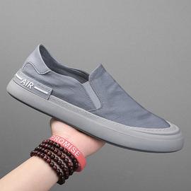 男鞋2020夏季新款透气冰丝帆布鞋男休闲懒人一脚蹬速干老北京布鞋