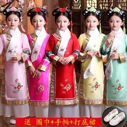 儿童古装女童公主满族宫廷贵妃甄嬛后传表演出服装清朝还珠格格服