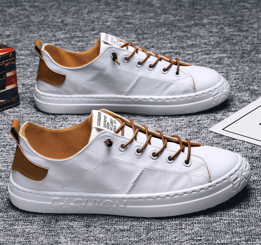 Mens shoes spring and summer new 2020 casual shoes Korean Trend canvas summer all kinds of net red breathable shoes cloth shoes
