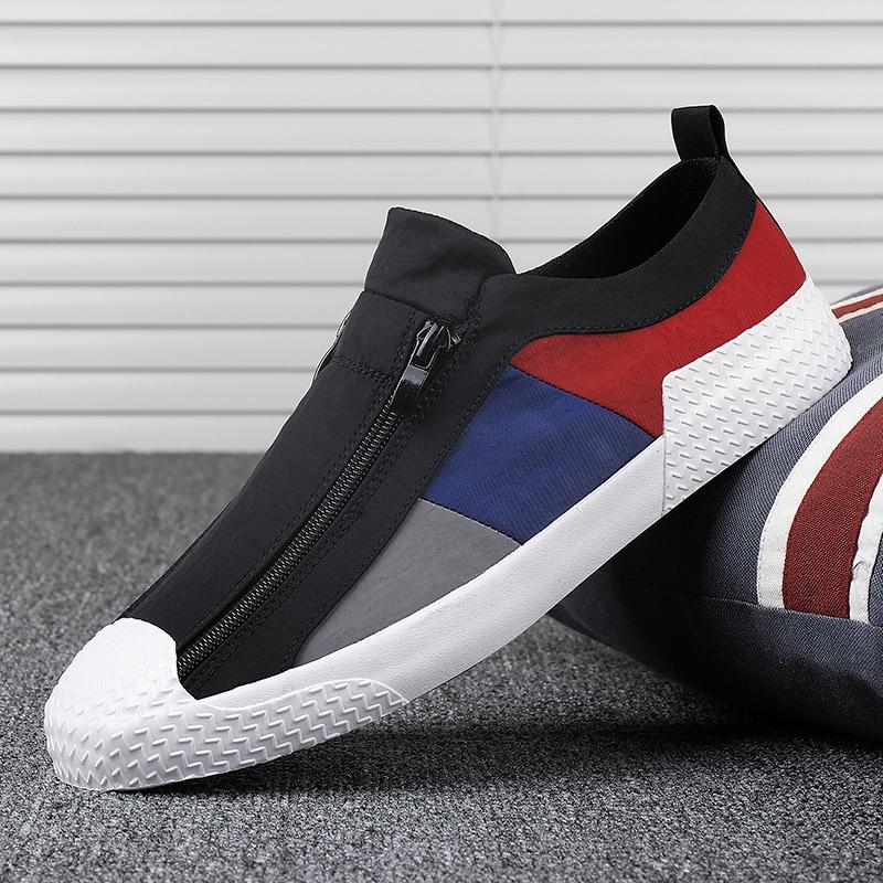 韩版透气男鞋2021新款夏季帆布鞋男士休闲潮鞋一脚蹬老北京布鞋子