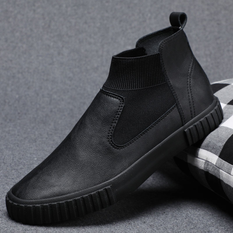 2021 spring new mens shoes Korean casual versatile high top shoes British business shoes
