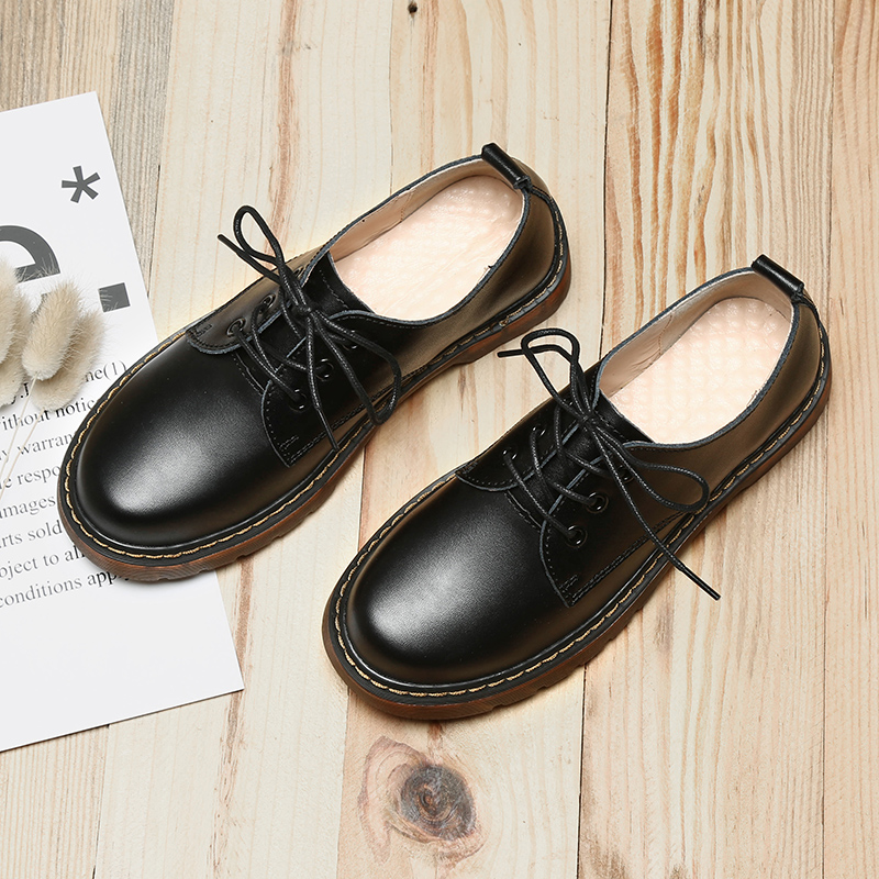 Japanese couples small leather shoes cute soft sister big head leather shoes woman Mary Zhen shoes Lolita shoes Zisen womens single shoes