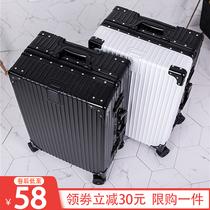 日后发货15月2膜拉链登机箱拉杆箱行李箱PC寸20网易严选黑凤梨