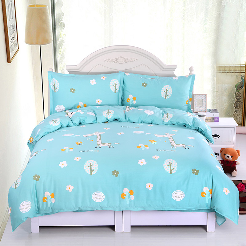 Four piece bedclothes pure cotton twill quilt cover