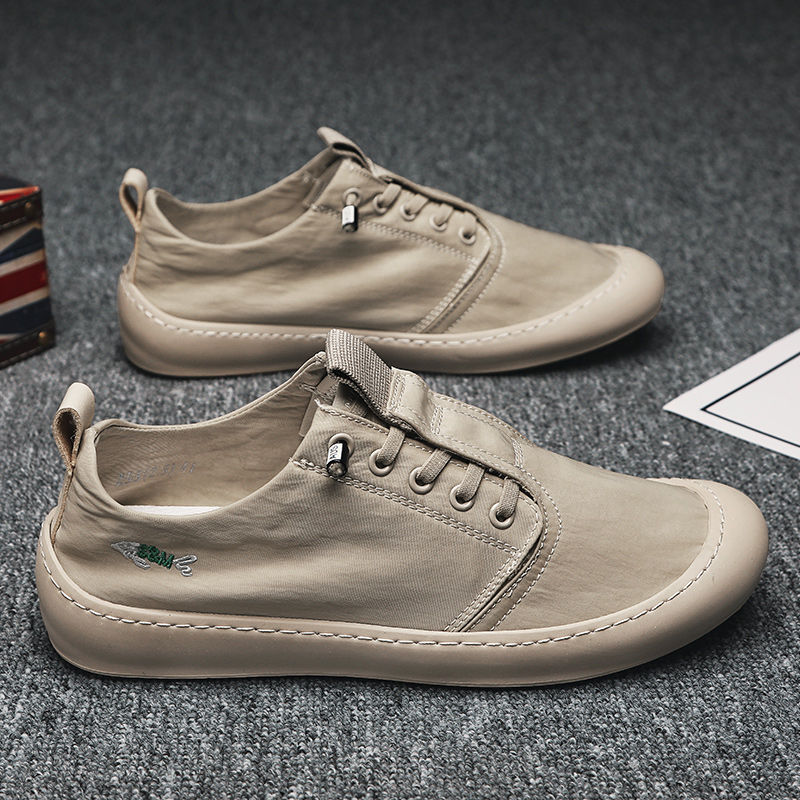 One foot canvas shoes for men 2020 summer new Korean Trend mens casual shoes breathable ice silk shoes for men