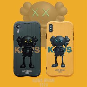 潮牌个性kaws情侣6s苹果x 7p手机壳