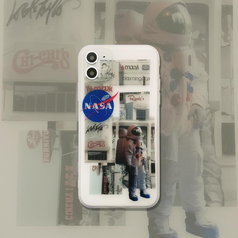 潮牌透明白宇航员xr苹果11 7p手机壳