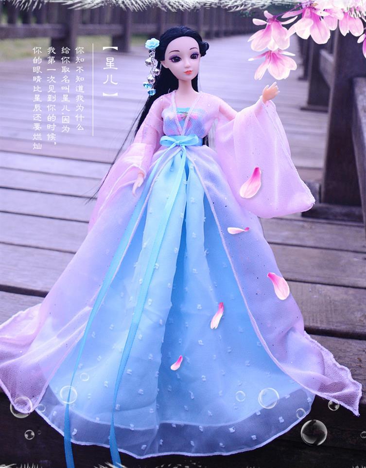 素体服饰七仙女儿童衣服美女大公主古装娃娃首饰女孩古代觅克60小