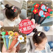 女童发夹宝宝发梳插梳bb夹卡碎发整理发卡神器儿童小女孩专用发饰