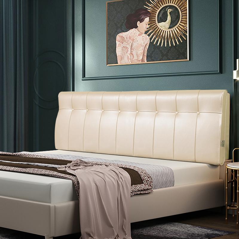 床头大双人床上护腰床头板护颈软包限100000张券