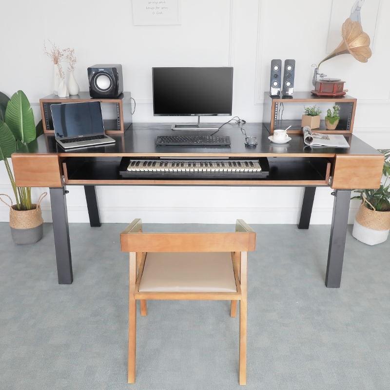 电钢工作台实木琴桌机架