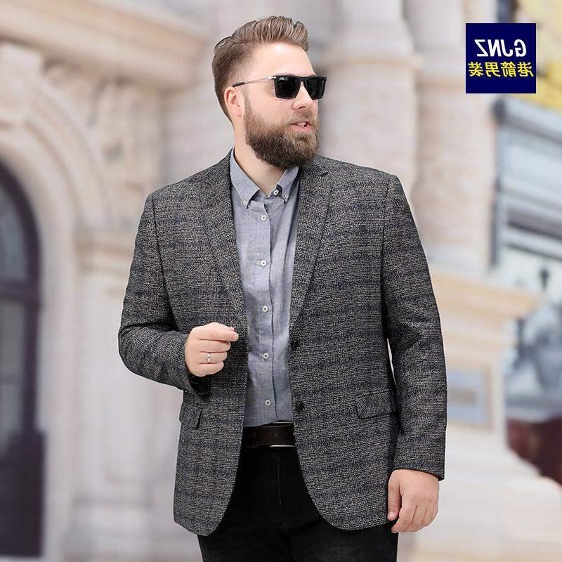 Boutique mens wear super large fat man suit coat mans fat coat casual casual casual wear plus extra size man