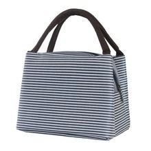 简约饭盒袋子提装带饭的手提包韩版可爱清新帆布便当防水女小保温