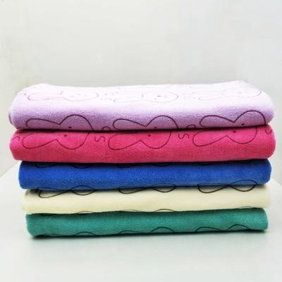 炒米成人吸水纯棉平柔软可爱黄海针织物比浴巾花女爆夏季