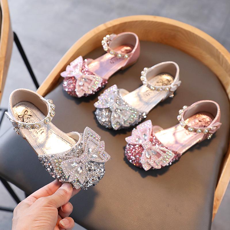女童凉鞋2021夏季新款小女孩中大童公主儿童鞋子时尚软底小童鞋子