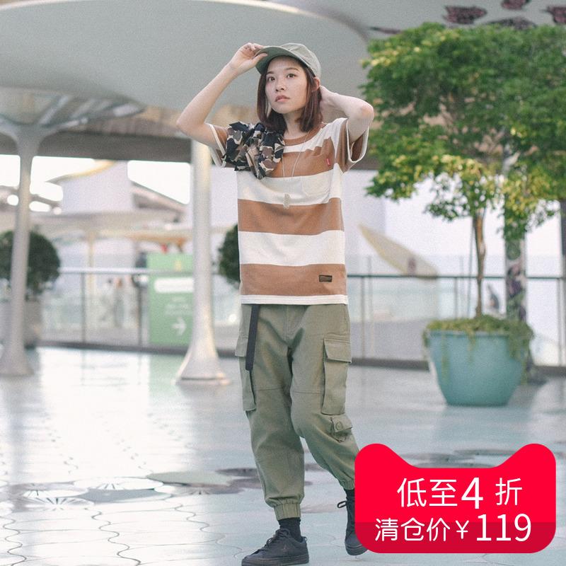 714street多口袋宽松男士工装裤潮牌休闲裤收脚裤子夏季潮牌图片