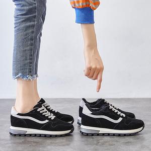 黑色老爹鞋女ins潮2020新款秋冬季加绒网红百搭内增高休闲运动鞋