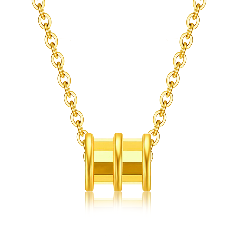 [official activity] gold small waist Necklace 18K gold necklace transfer Bead Pendant Necklace genuine female clavicle chain