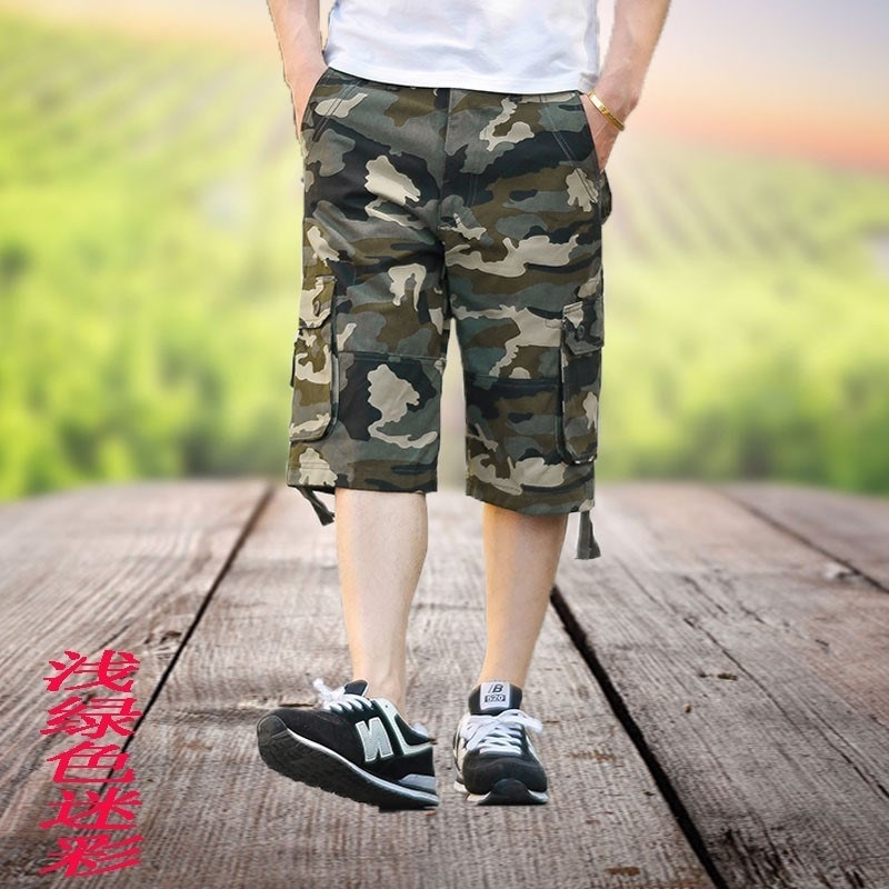 Camouflage beach pants shorts pants construction site migrant workers camouflage tooling camouflage seven points camouflage mens labor protection clothing