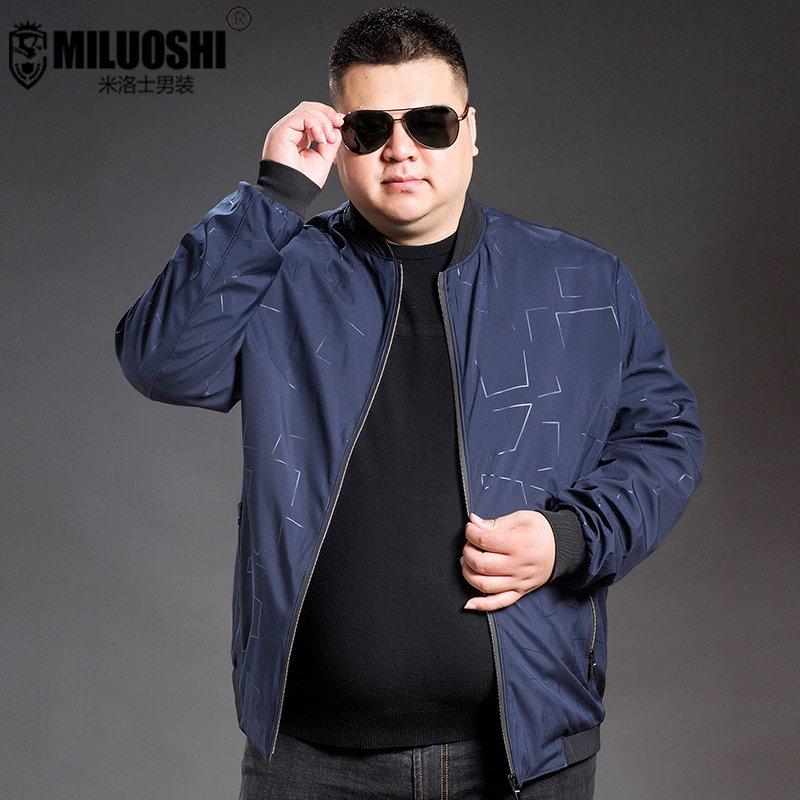 団購正ブランドの太っている男性の春秋のジャケットの男性の中年のお父さんはレジャーのオーバーを詰めてプラスして太っています。