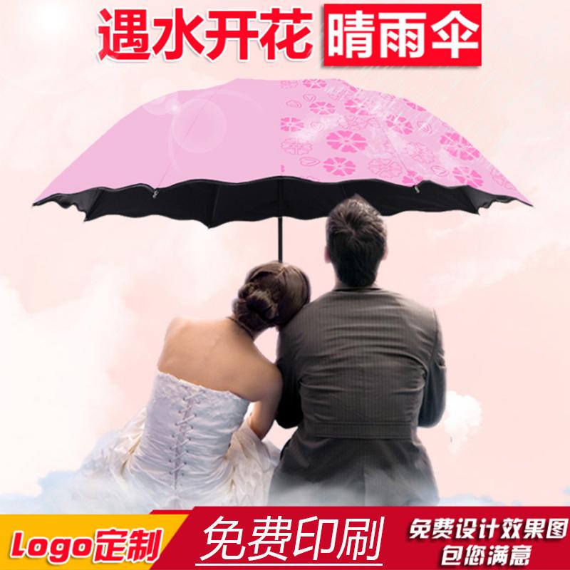 雨傘定制印logo折疊傘批發印字定做圖案晴雨兩用女遮陽防曬禮品傘