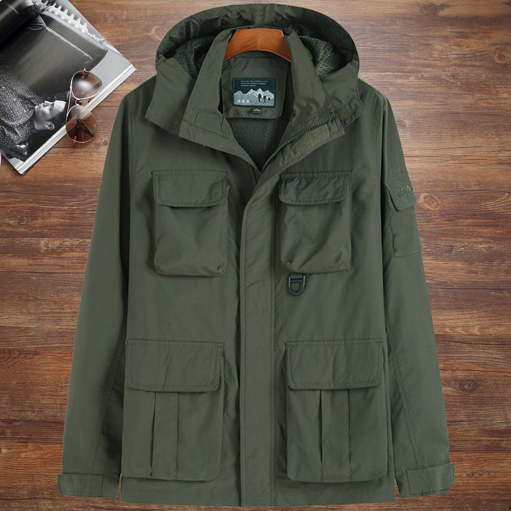 Counter genuine extra large mens coat autumn plus size work jacket loose fat leisure household