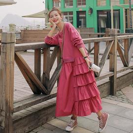 连衣裙女2020年新款夏季收腰显瘦法式复古温柔风甜美森系春秋裙子