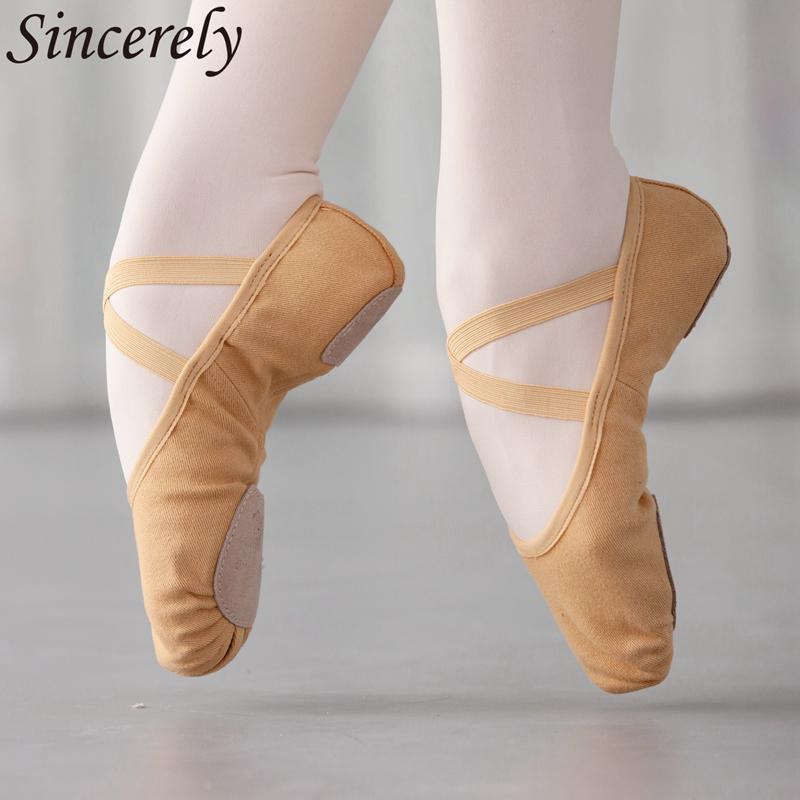 千姿舞美弹力布成人舞蹈鞋女软底练功鞋猫爪鞋形体芭蕾舞鞋跳舞鞋