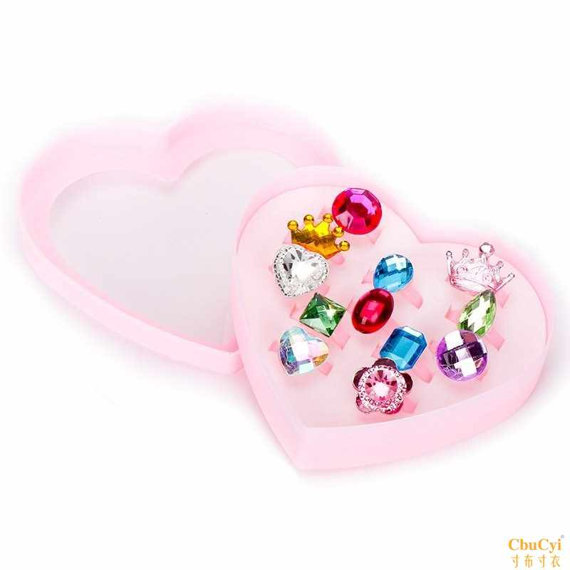 Middle and large childrens hair circle lovely childrens diamond ring childrens toy ring girls plastic hair ornament heart-shaped girl