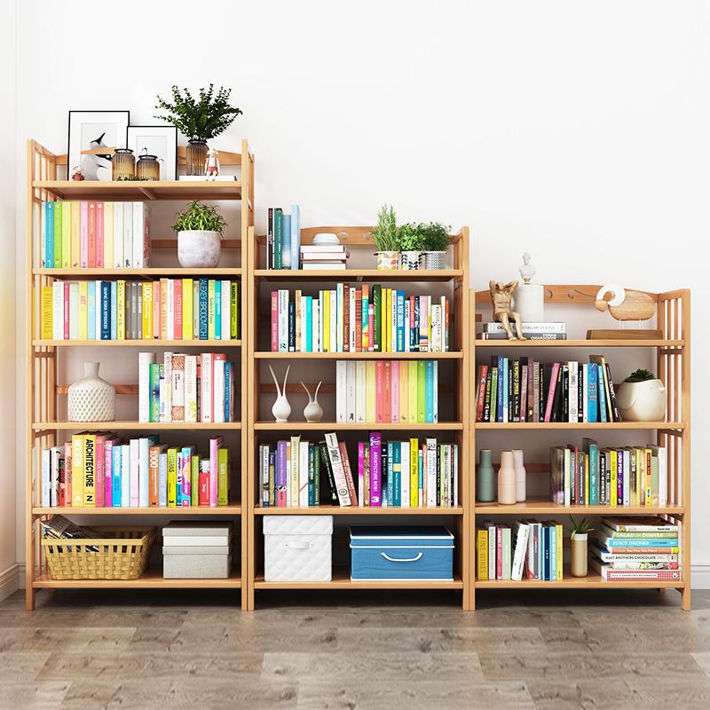 满10元可用10元优惠券简约现代落地实木学生简易儿童书架