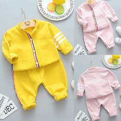 儿童新款洋气春秋装女宝宝时尚纯棉套装男童女童长袖卫衣两件套潮