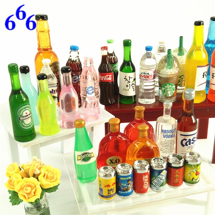 Miniature package model play blind juice snack toy bottle beverage blind bag supermarket scene coke bottle