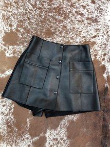 【PK001】2019新款經典小香風 百搭進口新西蘭綿羊皮裙褲女