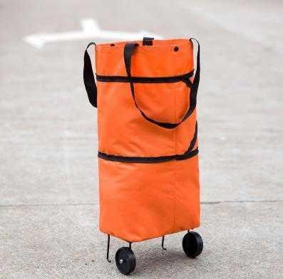 Multi function supermarket shopping driver carrying shopping bag large tugboat bag foldable portable shopping cart small cart