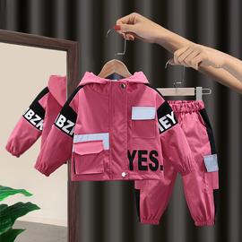 女童春秋套装2021新款洋气女宝宝时尚韩版春装网红工装小童两件套