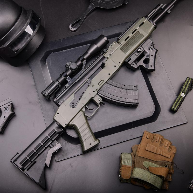m416电动连发水弹枪手自一体sks绝地吃鸡求生狙击抢M4儿童玩具枪,可领取10元天猫优惠券