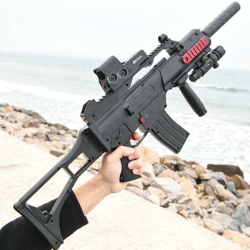 G36电动连发水弹枪绝地吃鸡装备求生水蛋抢儿童玩具枪男孩狙击枪,可领取10元天猫优惠券
