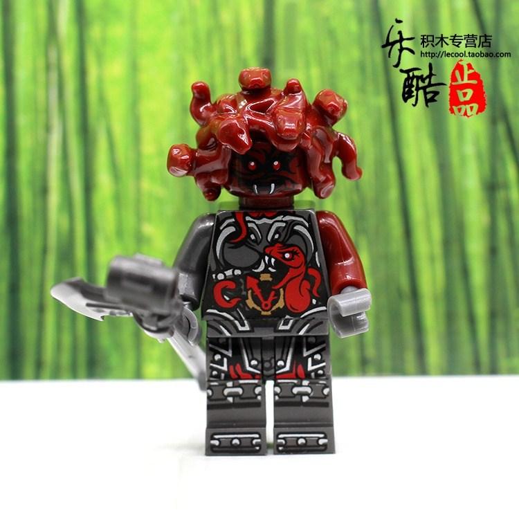 魔奇亚指挥官红蛇怪将领兼容乐高幻影忍者积木时空双子酷克斯人仔