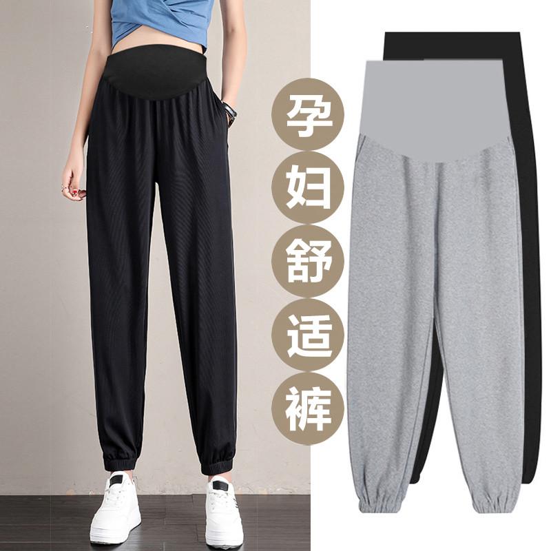 孕妇裤子夏季薄款外穿卫裤潮妈时尚女...
