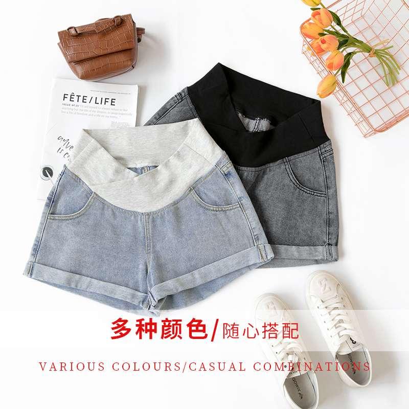 中国宽松低腰牛仔短裤女休孕妇裤子夏季2020新款闲外穿孕妇托腹三
