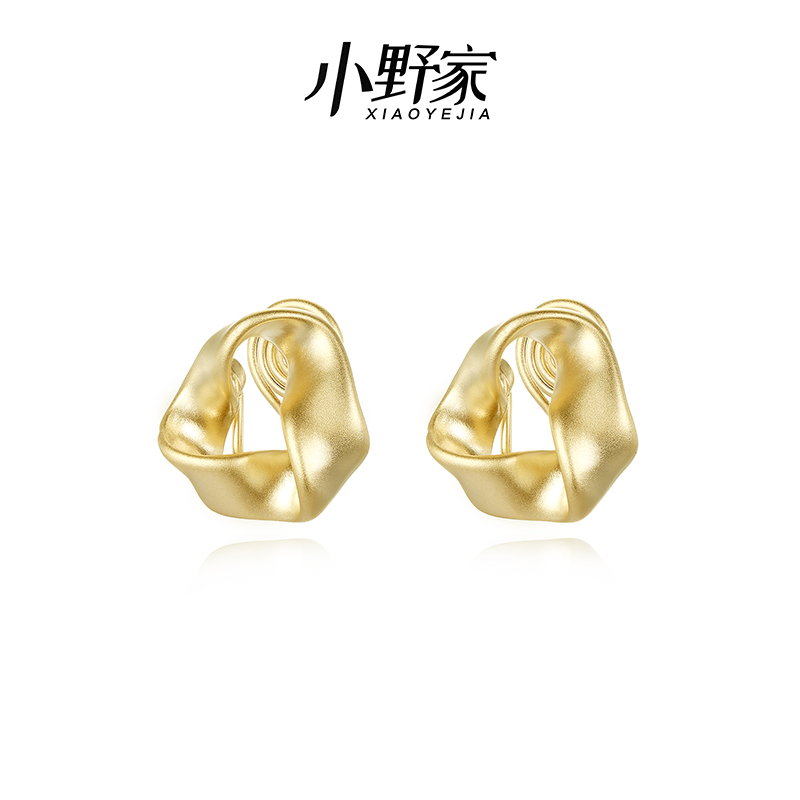 Onos triangular Earrings feminine Earrings minority design advanced sense ear clip cool wind retro no ear holes