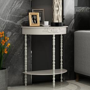 欧式简约半圆玄关台铁艺客厅玄关桌现代创意桌过道装饰柜卧室桌