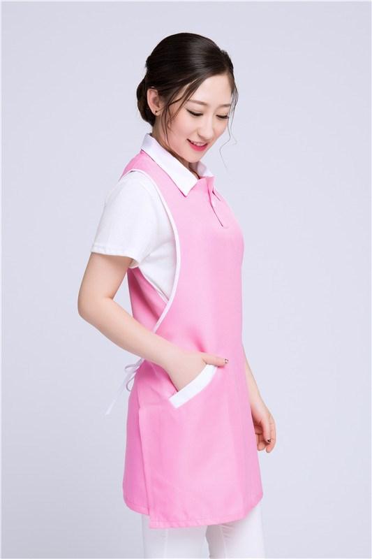美容院美容師工作服無袖圍裙韓版時尚美甲母嬰店服務員工裝女新款