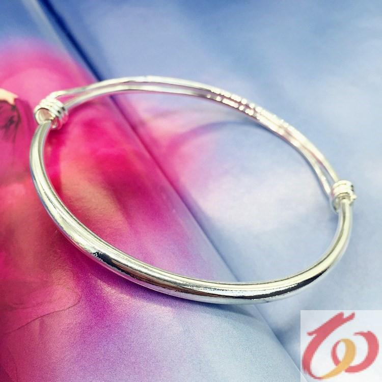 Korean temperament small bell anklet silver fashion Anklet girl smooth simple versatile new foot ring