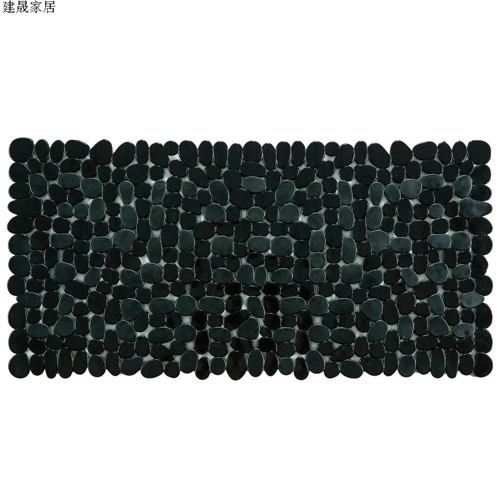 鹅卵石石头长方形地垫PVC淋浴脚垫防滑垫洗澡环保88x4070x36浴室