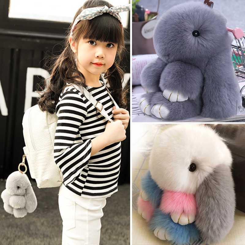 韩国垂耳兔公仔萌兔玩偶手机挂饰长耳兔兔小兔子毛绒玩具书包挂件