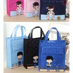 放钢琴谱书A4手提袋子美术工具袋补习课包防水男女小学生儿童书包