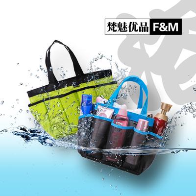 Mesh wash bag bath pocket large capacity wash bag basket bath basket bathroom compartment swimming fitness spa storage bag